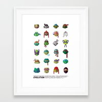 tmnt Framed Art Prints featuring TMNT by Daniel Nyari