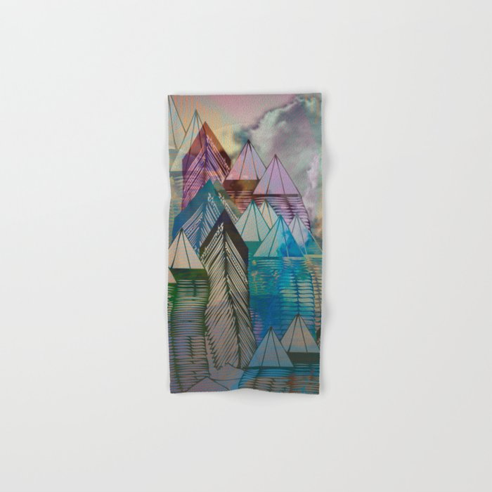 Triangular Endings on the Top Above the Clouds / Urban 04-11-16 Hand & Bath Towel