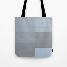 Blue and Gray Squares Tote Bag