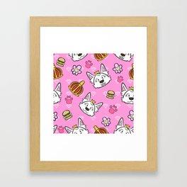 Sweetie pattern Framed Art Print