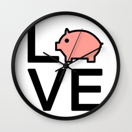 Love Pigs Very Cute And Funny Love Gift Idea Wall Clock