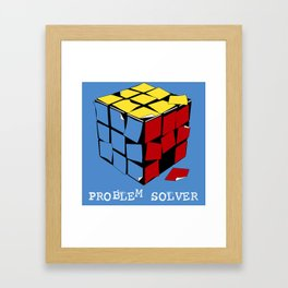 Problem Solver Framed Art Print