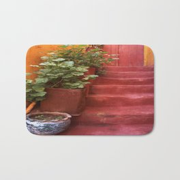 Blue, Red and Green Bath Mat
