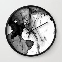 Soft Black Marble Wall Clock
