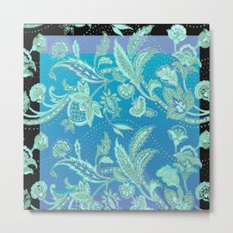 art nouveau bluet Metal Print
