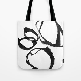 Minimalist Abstract Black Ink Painting Rings 2 Tote Bag