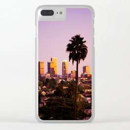 Silverlake Sunset Clear iPhone Case