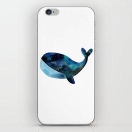 Galaxy whale iPhone Skin