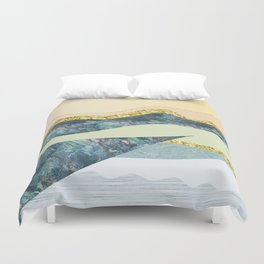 GRAPHIC ART Layers of soil and rock Duvet Cover