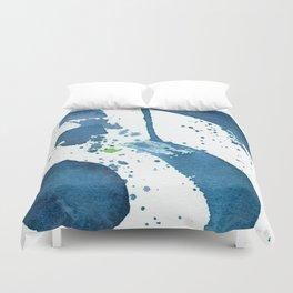 Blue Swirl Abstract Duvet Cover