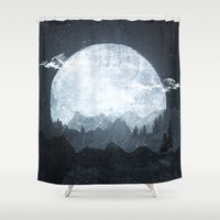moonrise Shower Curtains featuring Moonrise by Tracie Andrews