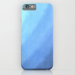 Ripple Effect - Textured Blue Ombre iPhone Case