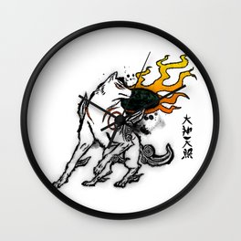 Amaterasu Ink Wall Clock