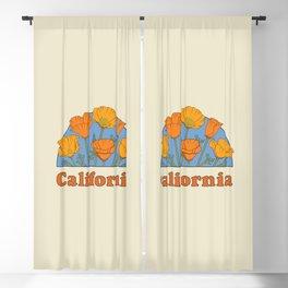 California Poppies Blackout Curtain