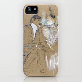 """Henri de Toulouse-Lautrec """"Lucien Guitry et Jeanne Grânier"""" iPhone Case"""