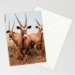 the herd at maasai mara-kenya Stationery Cards