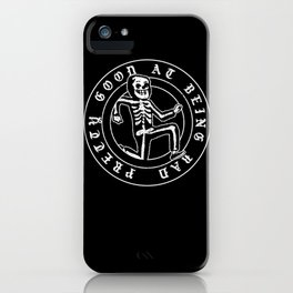 Pretty Good At Being Bad iPhone Case