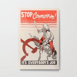 Vintage poster - Stop Communism Metal Print