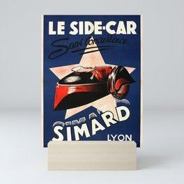 Simard Le Side Car Vintage French Advertising Mini Art Print