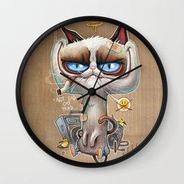 NOT SAD CAT TARD Wall Clock