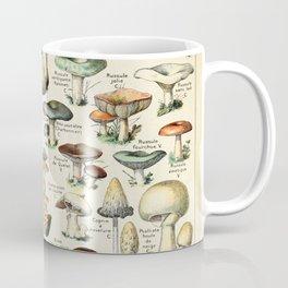 Vintage Mushroom & Fungi Chart by Adolphe Millot Coffee Mug