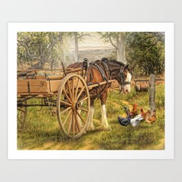 A Little Bit Country Art Print