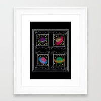 planets Framed Art Prints featuring Planets by Zukhruf
