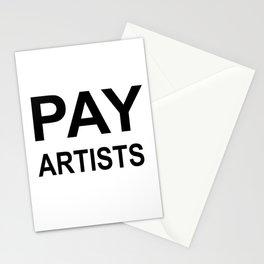PAY ARTISTS Stationery Cards