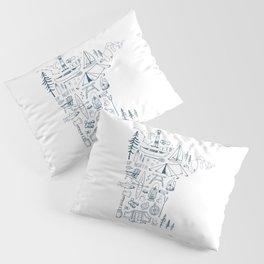 Minnesota Up North Collage Pillow Sham