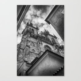 Church of Our Lady before Týn, Prague. Canvas Print