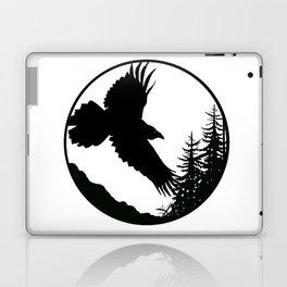 Raven & Forest circular silhouette Laptop & iPad Skin