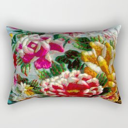 Chintz Egg Rectangular Pillow