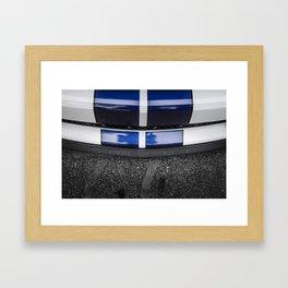 Shelby Blue Stripes Framed Art Print