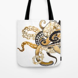 Metallic Octopus Tote Bag