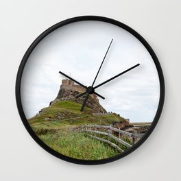 The twisted path towards Lindisfarne Castle atop a hill on Holy Island, Northumberland Wall Clock