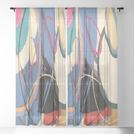 Unusually Composed Sheer Curtain