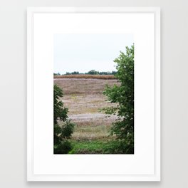 Looking out over the fields Framed Art Print