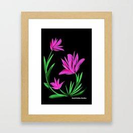 Night Flower Pink Framed Art Print