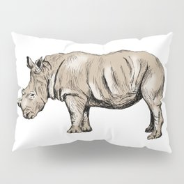 Rhinoceros print Pillow Sham