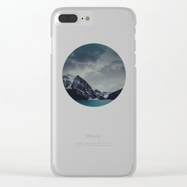 Lake Louise Winter Landscape Clear iPhone Case