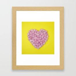 My heart belongs to pink Framed Art Print