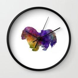 Penkingese in watercolor Wall Clock