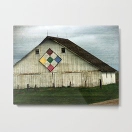 Only Memories, A Barn That Once Was Metal Print