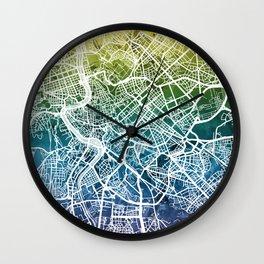 Rome Italy City Street Map Wall Clock
