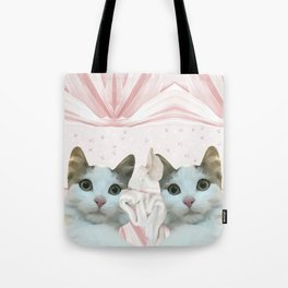 kitten.   pink, cats, pattern, children, pet, feline, animals, Society6. Tote Bag