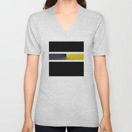 Team Colors 3...navy,yellow Unisex V-Neck