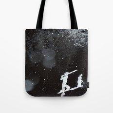 Winter Golfing Tote Bag