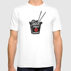 takeout & makeout Mens Fitted Tee MEDIUM White