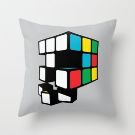 Rubix Skull Throw Pillow