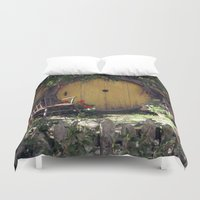 the hobbit Duvet Covers featuring The Hobbit by Cynthia del Rio